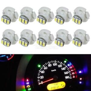 10x White T4 Neo Wedge 3 Smd Led Light A C Climate Control Lamps Bulb 10mm Wedge