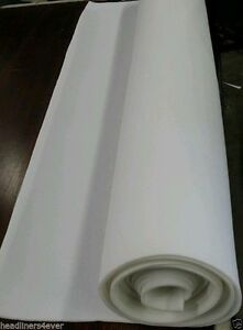 White Auto Headliner Upholstery Fabric 90 X 60 W 3 16 Foam Back Material