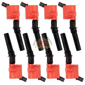 Dg508 Red Ignition Coil Pack For Ford F150 F250 F550 4 6 5 4l V8 Lincoln