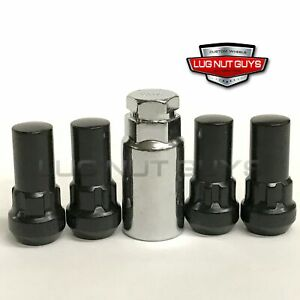 Lug Wheel Lock Nuts 14x1 5 Black Bulge Acorn 1 9 Long Locking Chevrolet Gmc
