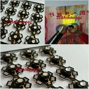 3w Uv 365nm Led Ultraviolet High Power Bead With 20mm Black Star Base 100pcs