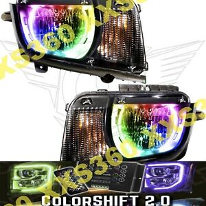 Oracle Halo Headlights Chevrolet Camaro 10 13 Non Rs Only Colorshift Led