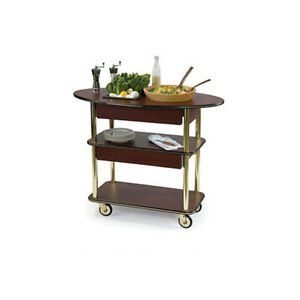 Lakeside 37307 23 dx44 wx35 h Rounded Oval Salad Cart