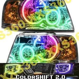 Oracle Halo 2x Headlights For Ford Expedition 03 06 Led Colorshift 2 0 W Remote