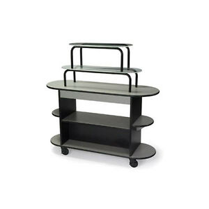 Lakeside 37218 20 dx55 wx54 h Rounded Oval Dessert Cart