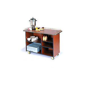 Lakeside 68200 25 1 2 dx57 1 2 wx36 3 4 h Solid Wood Enclosed Service Cart