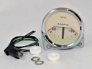 Classic Mini New 60 60 Reading Ammeter Gauge From Smiths With Magnolia Face