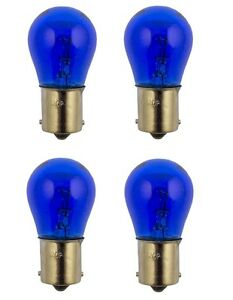 4x 1156 Blue Tail Light Rear Brake Stop Turn Signal Lamps Bulbs Purple 1156b