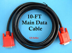 10 Main Data Cable For Snap On Scanner Obd2 Obd1 Adapter Mt2500 Solus Modis