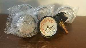 17109 Lot Of 6 Boiler Gauge Temperature And Pressure Brand New