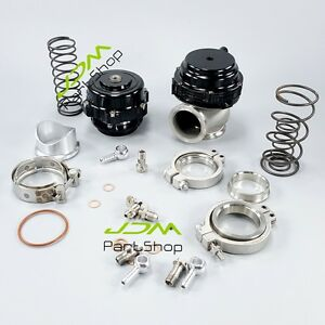 50mm Bov 44mm Wastegate Combo Turbo Blow Off Valve Bov And Waste Gate Black New