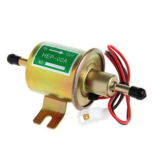 12v Electric Positive Earth Fuel Pump Facet Cylinder Style Universal Car Van