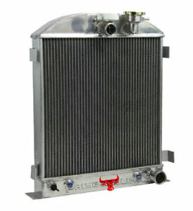 3 Row Aluminum Radiator Fit Chevy Engine Ford Grill Shells 3 Chopped 1939 1940