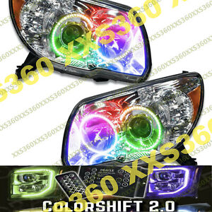 Oracle Halo Headlights Non Hid Toyota 4runner 06 09 Colorshift Angel Demon Eyes