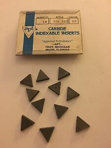 Apt Carbide Inserts Tpg 322 C5 Qty 11 New