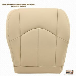 Driver Bottom Leather Seat Cover Color Tan Fits 1999 2000 2001 2002 Lexus Rx300