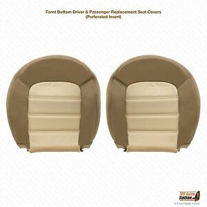 2004 Ford Explorer Eddie Bauer Driver Passenger Bottom Leather Seat Cover Tan