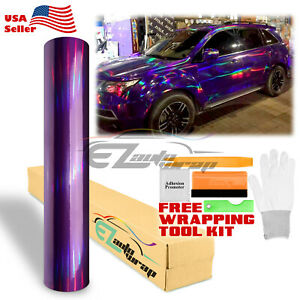 holographic Purple Rainbow Neo Chrome Car Vinyl Wrap Air Bubble Free Sticker
