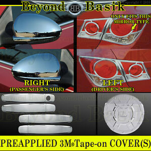 2011 2015 Chevy Cruze Chrome Door Handle Covers gas mirrors taillight Bezels