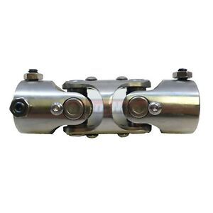 Universal Stainless Steel Double Style Steering U joint 1 X 1 Dd Chevy Hot Rod