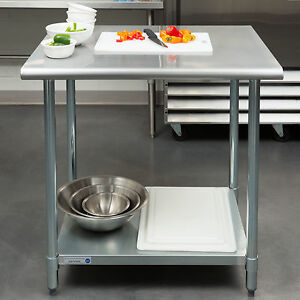 New 30 X 36 Stainless Steel Work Prep Table Adjustable Undershelf Restaurant