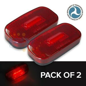 Red Led Side Marker Lights Clearance Lamp For Trailer Rv Truck Lorry 3 9