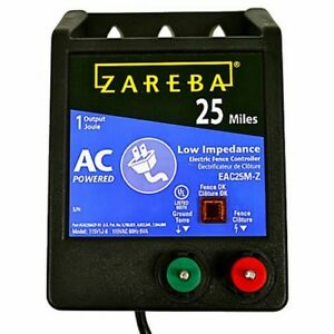 Zareba Eac25m z Fencer Charges Up To 25 Miles Fence Electric Fencer