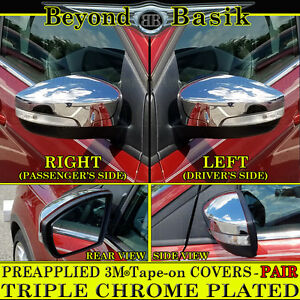 2013 2014 2015 2016 Ford Escape Chrome Mirror Covers With Turn Signal Hole