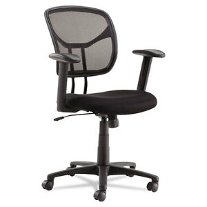 Oif Swivel tilt Mesh Task Chair Adjustable T bar Arms Black chrome Oifmt4818