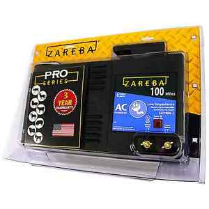 Zareba Eac 100 Mz Fencer 100 Mile Sac Low Impedance Fence Charger Safe Effective
