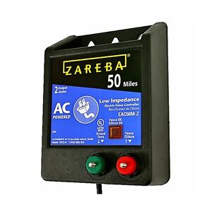 Zareba Eac 50 M z Fencer 50 Mile Ac Low Impedance Fence Charger Safe Effective