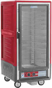 Metro C537 cfc l 3 4 Mobile Holding proofing Cabinet Lip Load W Clear Door