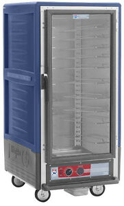 Metro C537 cfc l bu 3 4 Mobile Holding proofing Cabinet Lip Load W Clear Door