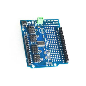 16 Channel 12 bit Pwm Servo Drive Shield Board i2c Pca9685 For Arduino L