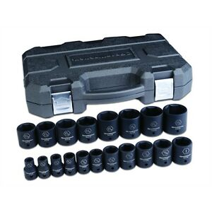 Gearwrench 84932n 19 Piece 1 2 Drive 6 Point Sae Standard Impact Socket Set