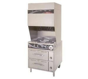 Wells Wv 4hfrw Ventless Range W Drawer Warmers 4 French Style Hot Plates