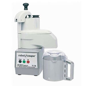 Robot Coupe R301 Combination Food Processor W 2 Disc 3 5 Qt Gray Bowl