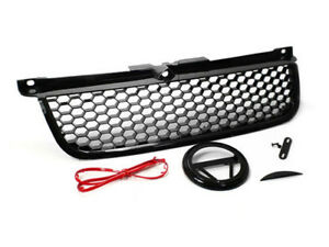 99 05 Vw Mk4 Jetta Bora Gli Rs Style Honeycomb Hex Mesh Grille W Badge Holder