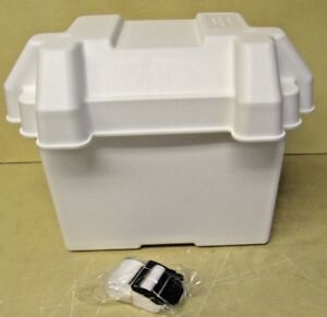 Made In Usa Group 24 Battery Box Plastic White Auto Marine Rv