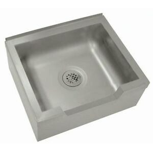 Advance Tabco 9 op 40df x 20 X 16 X 12 Stainless Mop Sink Floor Mounted