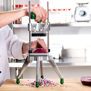 1 4 Vegetable Fruit Dicer Onion Tomato Slicer Chopper Restaurant Commercial Nsf