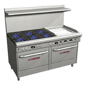 Southbend 4601ad 2gr Ultimate 60 Range 6 Burners And 24 Griddle With 2 Ovens