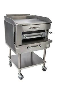 Southbend Ssb 32 32 Gas Steakhouse Broiler Griddle Counter Top W Stand
