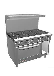 Southbend S48ac 48 S series Range W 8 Burners Convection Oven