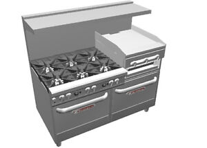 Southbend 4603dd 2rr Ultimate 60 Star Burner Range W Griddle broiler