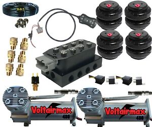 Air Suspension Kits Accu Rate 1 4 Air Valves Manifold Smartride Controller