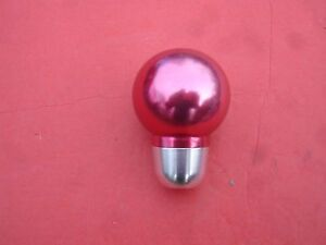 Cool Round Red Anodized Aluminum Car Truck Shift Knob Hot Rod Custom Tuner Rat