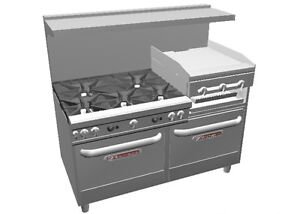 Southbend Ultimate 60 5 Burner Range W Griddle broiler 2 Std Ovens