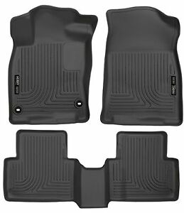 Husky Liners Weatherbeater 2016 2019 Honda Civic 4 Door Sedan Floor Mats Black