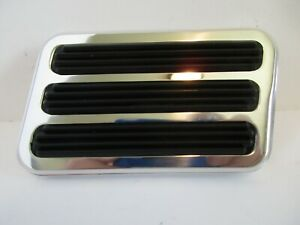 Polished Billet Aluminum Brake Pedal Pad Rectangle Chevy Ford Hot Rod 8500pol
